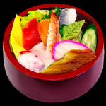 新ちらし 10 assorted sashimi bowl